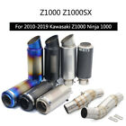 For 2010-2019 Kawasaki Z1000 Exhaust Pipe Slip On 51mm Motorcycle Escape L