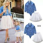 Macthing Family Clothes Mommy  And Me  Dresses Cotton Summerwear   Outfits