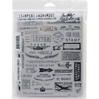 Stampers Anonymous Tim Holtz Cling Stamps 7X85 Correspondence