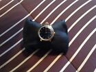 VINTAGE TIMEX 1980 MARLINS MENS HAND WIND WATCH NEW BLACK LEATHER BAND 272490248