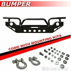 New Black Front Bumper Rock Crawler Winch Plate Fit 2007 2018 Jeep Wrangler Jk