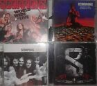 Scorpions 6 CD 1 DVD lot Deluxe World Wide Live Gold Deadly Sting Mercury Years