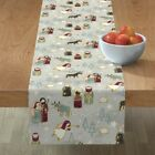 Table Runner Nativity Scene Christmas Baby Jesus Ox Donkey Angel Cotton Sateen