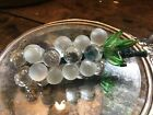 Vintage Czech Tiny Grape Fruit Cluster Hand Blown Clear  Frosted Glass