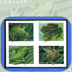 2019 FROGS Block of 4 attached USPS Forever Stamps in cat order 5395 98 5398a