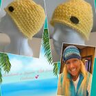 Beanie Handmade in the Salty Air of Laguna Beach! Women's Large, Lemon Yellow