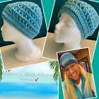 Beanie Handmade in the Salty Air of Laguna Beach! Women's L-XL, Robin's Egg Blue