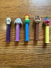 Vintage Pez Dispensers - Lot Of 5 - Chick In Hat Lamb Dr. Skull Pez A Saurus Taz