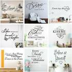 Fashion Wall Sticker Art Quote Vinyl Wall Stickers Home Decal Decoration