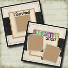 I Survived Quarantine 2020 Covid 1 2 Premade Scrapbook Pages EZ Layout 4712