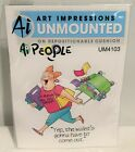Art Impressions People CROP TIL YOU DROP Crafter Cling Rubber Stamps Rare