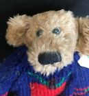 "Vintage Boyds Bears Collectible Dexter Bear with Blue/Red Sweater 7"" 1990-96"