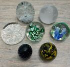 LOT 7 GLASS PAPERWEIGHTS