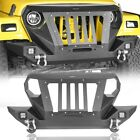 Fit 1997 2006 Wrangler Jeep TJ Mad Front Grill Bumper Bar Combined Style Steel