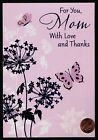 Mothers Day HALLMARK Butterflies Flower PURPLE FOIL Mothers Day Greeting Card