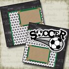 SOCCER 2 Premade Scrapbook Pages EZ Layout 2188
