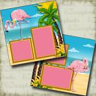 Pink Flamingos 2 Premade Scrapbook Pages EZ Layout 4064