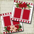 Christmas Snowflakes 2 Premade Scrapbook Pages EZ Layout 3572