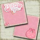 Baby Girl NPM 2 Premade Scrapbook Pages EZ Layout 4037