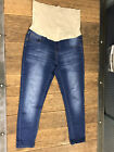Vintage Violet Maternity Distressed Skinny Jeans Size Large Excellent Condition