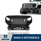 Hooke Road Heavy Duty Front Bumper w Grill Guard for Jeep Wrangler JK 2007 2018