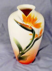 FRANZ 12 INCH VASE WITH BIRD OF PARADISE IN RELIEF 00065 SIGNED