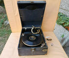 OLD ANTIQUE PRIMITIVE PHONOGRAPH GRAMOPHONE ZENITH CRANK WORKING GIFT 2 RECORDS