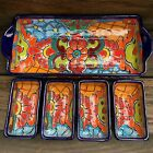 Mexican Talavera Serving Dish Sectional Tray Condiment or Taco  5 pieces