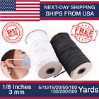 Elastic Band Cord for DIY 1 8 1 4 inches width 10yards to 500 Yards Sewing White