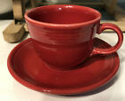 Fiesta by Homer Laughlin Set Of Four Cups And Saucers Red