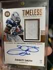 Emmitt Smith 2017 Encased Timeless Material Signatures 1 5 On Card Auto Cowboys