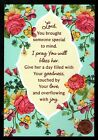 THINKING OF YOU Flowers PINK SHINE Religious Thinking of You Greeting Card
