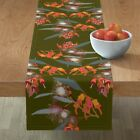 Table Runner 2941 Eucalyptus Australian Native Flowe Flora Cotton Sateen