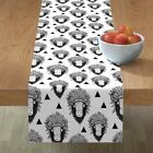 Table Runner Southwest Buffalo Boho Animal Triangle Bison Native Cotton Sateen