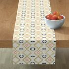 Table Runner Tribal Southwestern Boho Navajo Native Triangles Cotton Sateen
