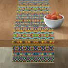 Table Runner Pattern Aztec Native Indian South America Central Cotton Sateen