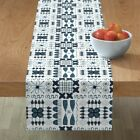 Table Runner African Ethnic Native Aboriginal Simple Primitive Cotton Sateen