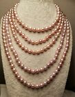 Near Round Freshwater Pearl Necklace Opera Length Pearl Shed BNWOT