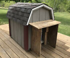 Solid Amish Built Large Outdoor Dog House Box Shelter Heavy Grey Burgundy