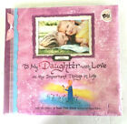 To My Daughter With Love Scrapbook Photo Album w Poetry NEW OLD STOCK