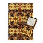 Hawk Birds Wild Ethnic Native Linen Cotton Tea Towels by Roostery Set of 2