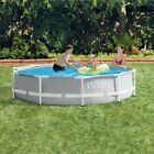 INTEX 10ft x 30in Prism Metal Frame Above Ground Swimming Pool w Pump IN HAND