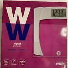 Weight Watchers by Conair Digital Glass Scale Large Display WW429X Unopened New