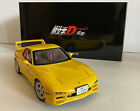 MAZDA EFINI RX 7 FD3S NEW ANIMATION FILM INITIAL D YELLOW 1 18 BY AUTOART
