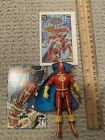RED TORNADO Vintage Loose 1984 Kenner DC Super Powers Figure w Cape Card Comic