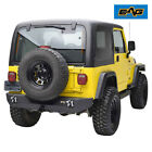 EAG Rear Bumper with Hitch Receiver Textured Heavy Duty Fit 87 06 Jeep TJ YJ