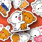 45 Cute Bear Friends Kawaii Stickers Journal Diary Stickers Scrapbooking USA
