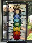 Chakra Stained Glass art handcrafted