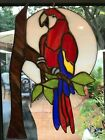 Scarlet Macaw Stained Glass art handcrafted