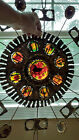 RARE VINTAGE 1967 SIGNED CURTIS JERE STAINED GLASS METAL ART WALL SCULPTURE